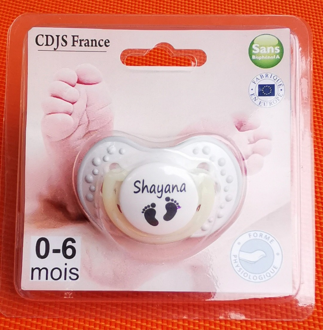 Tétine de bébé par blister pied personnalisée