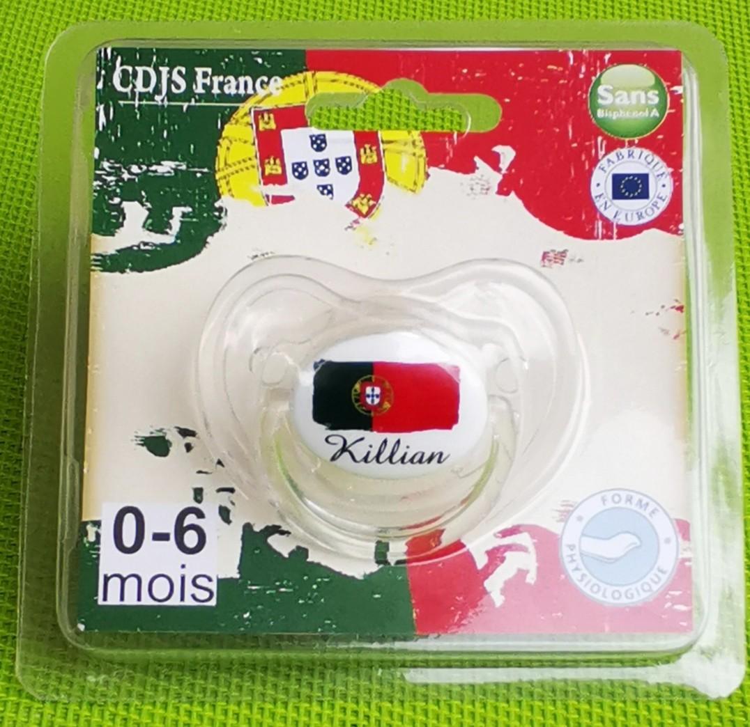 Tétine de bébé par blister Portugal personnalisée