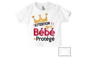 Tee-shirt de bébé je suis une super nana