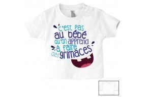 Tee-shirt de bébé c'est pas que je ne t'écoute pas c'est juste que je m'en fous fille