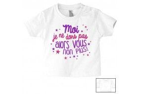 Tee-shirt de bébé c'est pas que je ne t'écoute pas c'est juste que je m'en fous