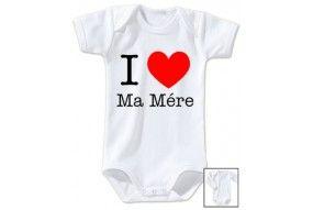 Body de bébé ma maman m'adore fille