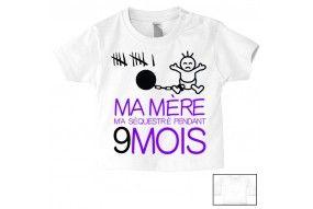 Tee-shirt de bébé je suis le prince des râleurs la reine c'est ma mère