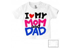Tee-shirt de bébé j'ai le caractère de ma mère fille