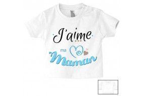 Tee-shirt de bébé j'ai le caractère de ma mère garçon