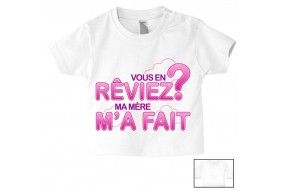 Tee-shirt de bébé ma maman n'est pas parfaite est alors rose violet