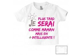 Tee-shirt de bébé belle comme maman