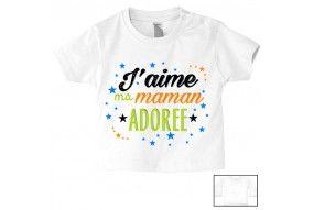 Tee-shirt de bébé désolé les filles mon cœur est à maman