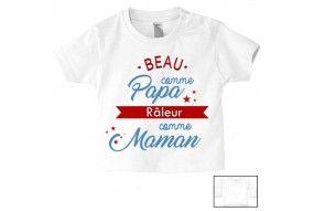 Tee-shirt de bébé je suis le portrait de ma maman fille