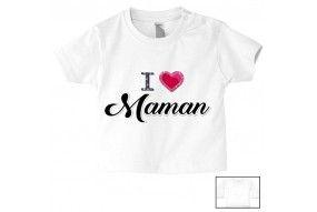 Tee-shirt de bébé je suis le portrait de ma maman garçon