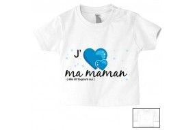 Tee-shirt de bébé plus tard je serai comme maman mais en plus intelligente