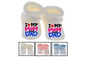 Chaussons de bébé j'ai le caractère de ma mère fille
