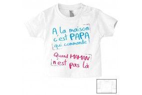 Tee-shirt de bébé je suis un prince mais attention pas n'importe lequel celui de maman