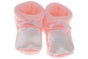 Chaussons bébé personnalisés rose