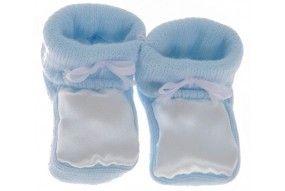 Chaussons bébé personnalisés bleu