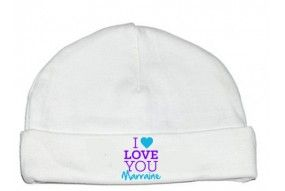 Bonnet de bébé i love you marraine fille