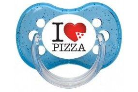 Tétine de bébé humour et originale I love pizza