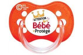 Tétine de bébé originale attention bébé protégé couronne